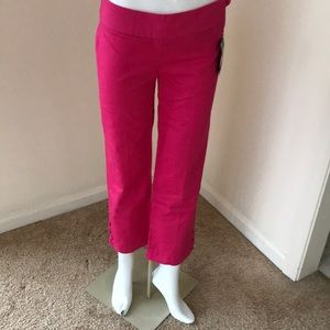 NWT! LILLY PULITZER Size 0 Pink Kristen Capris